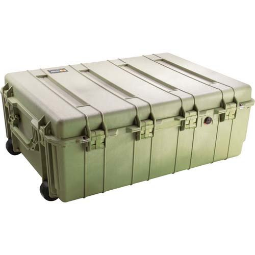 Pelican 1730 Watertight Transport Case with Wheels - Without Foam Insert, Olive Drab Green ()