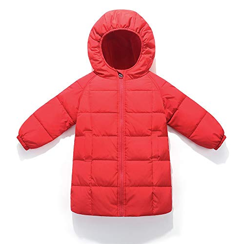 0cbb07b1eaaf ... Unisex Winter cinnamou Jacke Rot Mantel Daunenjacke Dicke  Oberbekleidung Warme Mit Kinder Kleidung Mantel Lange Kapuze ...
