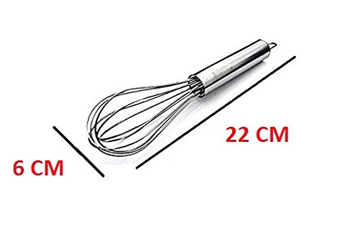 Stainless Steel Whip | Egg Beater | Whisk Shaker Frother | Egg Frother - 22 CM