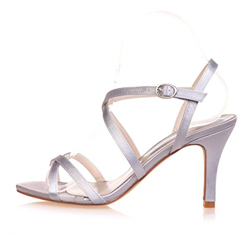 L@YC Tacones altos De Boda Para Mujer / Peep Toe / Plataforma / Confort / Sandalias SatéN Wedding / Night Party & Blue