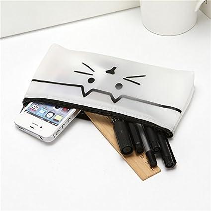 AHIMITSU - Estuche de silicona para lápices, diseño de gato ...