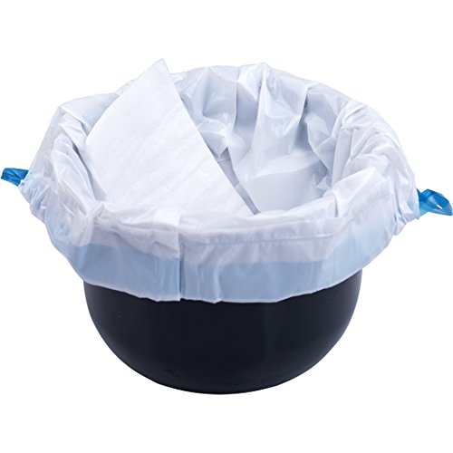 Medokare Commode Liners Pail Bags - with Super Absorbent Pad, 24 Medical Grade Disposable Potty Liners, Bedside Commode Liners, Sanitary Bags for Adult Commode Chair Bucket Or Bedside Toilet Liners by Medokare (Image #1)