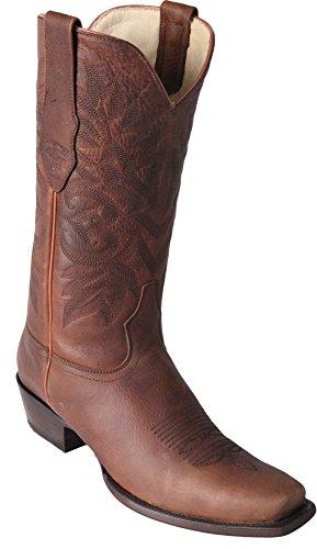 Design Boots Toe Western Exotic Rage Boots Honey 7 Men's Genuine Los Skin Leather Altos q0Aqp