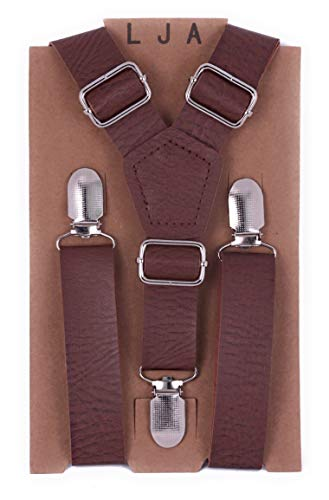 Big Kids Silver Apparel - London Jae Apparel Kids Suspenders (Weathered Coffee w/Silver Clips, Small (2mos-5yr))