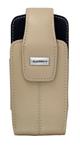 BlackBerry Lambskin Leather Swivel Holster for BlackBerry 8100, 8110, 8120, 8130 (Ecru Tan)