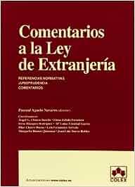 COMENTARIOS A LA LEY DE EXTRANJERIA 1ª ED. MONOGRAFIAS