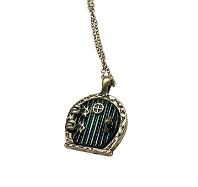 Vintage style bronze green hobbit door necklace locket gift  sc 1 st  Amazon UK & Vintage style bronze green hobbit door necklace locket gift: Amazon ...
