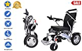 Sentire Med Forza D09 Deluxe Fold Foldable Power Compact Mobility Aid Wheel Chair, Lightweight Folding Carry Electric Wheelchair, Motorized Wheelchair, Powerful Dual Motor Wheelchair