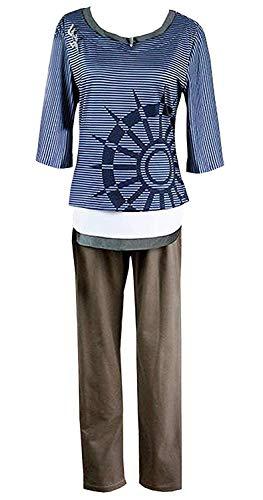 (LYLAS Cosplay Costume Men's Striped T-Shirt Halloween Uniform Suit (Male-XL))