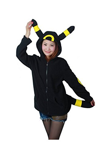 Koveinc Cosplay Costume for Black Pokemon Umbreon Kigurumi Hoodie