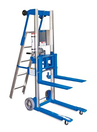"""Genie Lift, GL- 8, with Ladder, Heavy-Duty Aluminum Manual Lift, 400 lbs Load Capacity, Lift Height 10' 0 .5"""" from Ground"""