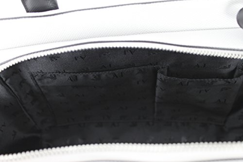 Armani Jeans borsa con manici Borsa a mano Bag C5250Bianco Nero Venta A Estrenar Unisex La Salida De Edición Limitada Outlet De Calidad Perfecta Salida auFo2FA