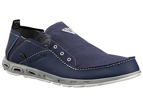 Columbia Men 's PFG de ventilación Bahama Slip-On zapatos de barco Nocturnal/Columbia Grey