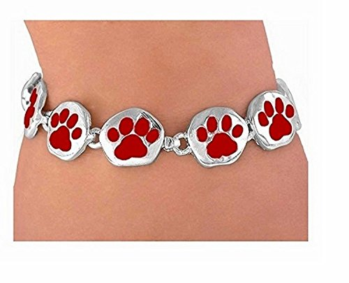 Bright Red Magnetic Paw Bracelet by Lonestar Jewelry