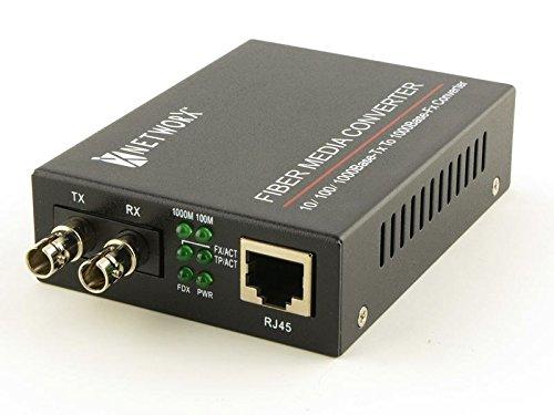 Gigabit Ethernet Fiber Media Converter - UTP to 1000Base-SX - ST Multimode, 550m, 850nm Networx FT-1000MM-ST850