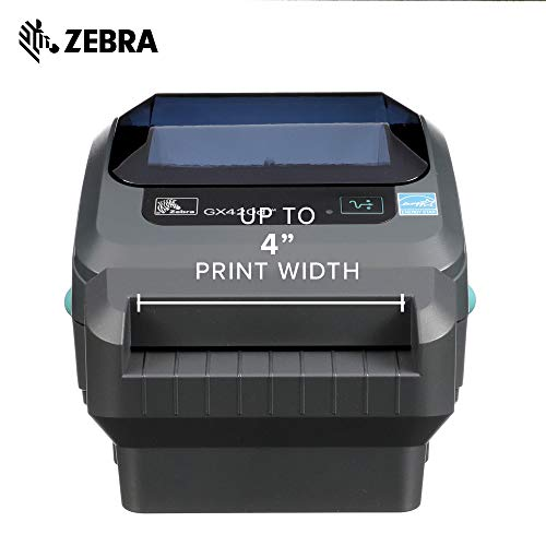 Zebra - GX420d Direct Thermal Desktop Printer for Labels, Receipts, Barcodes, Tags, and Wrist Bands - Print Width of 4 in - USB, Serial, and Parallel Port Connectivity (Includes Cutter) by Zebra Technologies (Image #2)