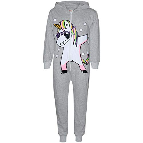 A2Z 4 kindermeisjes 100% katoen onesie dabbing eenhoorn & sterren bedrukt all-in-one jumpsuit playsuit nachthemd…