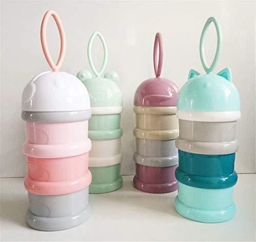 LOSOUL Portable Born Baby Feeding Milk Container Infant Kids Formula Milk Powder Three Grid Candy Snacks Supplies Boxes