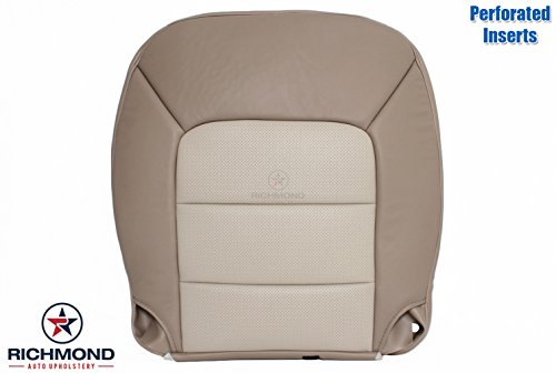 2003-2006 Ford Expedition Eddie Bauer 2WD -Driver Side Bottom Perforated Replacement Leather Seat Cover, 2-Tone Tan