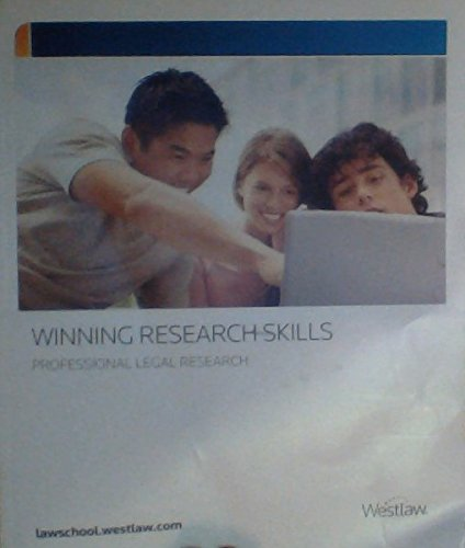 Winning Research Skills   Professional Legal Research  Westlaw