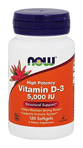 NOW FOODS D3 5000 IU in Olive Oil, 120 CT