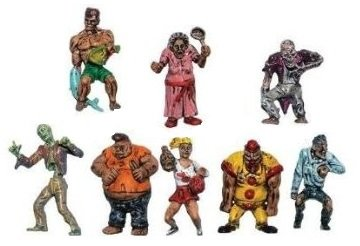 Zombie Planet Complete Set of 9 Fully Colored Toys]()