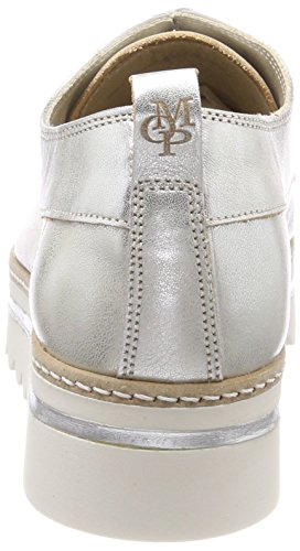 Donna O'Polo up Silver Shoe Stringate Oxford Argento 165 Marc Scarpe Lace Ua0wq7q