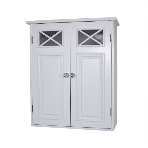 Collection Bath Wall (Elegant Home Fashions Dawson Collection Shelved Wall Cabinet, White)