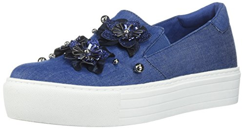Kenneth Cole REACTION Women's Cheer Floral Applique Platform B076C2CF8M Slip B076C2CF8M Platform Shoes c50194