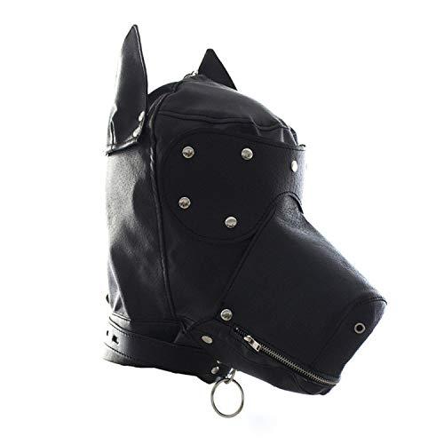 SVVNE T-SHIRT Adūlt Pleašure Toys Dog Hood Msak PU Leather Dog Head Hood Fetišh Fantašy Sexwo SLE Role Play Adūlts Sexwo Toys for Coupleš -