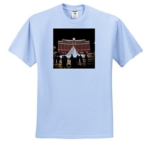 - Danita Delimont - Las Vegas - Nevada, Las Vegas, Bellagio Hotel and Casina - US29 BBR0061 - Brent Bergherm - T-Shirts - Adult Light-Blue-T-Shirt XL (ts_92182_53)