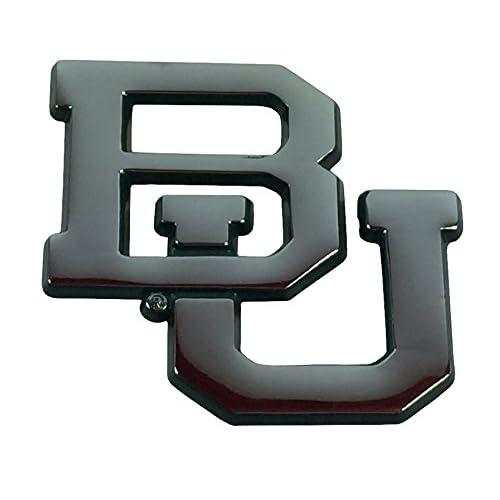 """BU"" Baylor METAL Auto Emblem with Green Trim for sale"