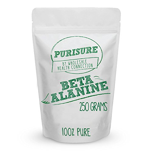 Beta Alanine Powder 250g (334 Servings) - Bulk Pre Workout Nutrition - Unflavored Supplement