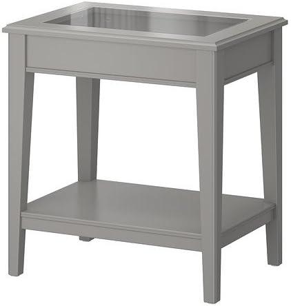 IKEA LIATORP - mesa auxiliar, Gris, vidrio - 57 x 40 cm: Amazon.es ...