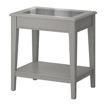 Beistelltisch ikea grau  IKEA LIATORP - Beistelltisch, grau, Glas - 57x40 cm: Amazon.de ...