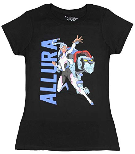 Voltron Shirt Lengendary Defender Princess Allura and Blue Lion Juniors T-Shirt (X-Large)