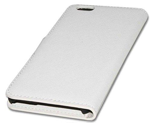 Handy Tasche Case Etui book für Apple iPhone 6 / Handytasche Schutzhülle weiß