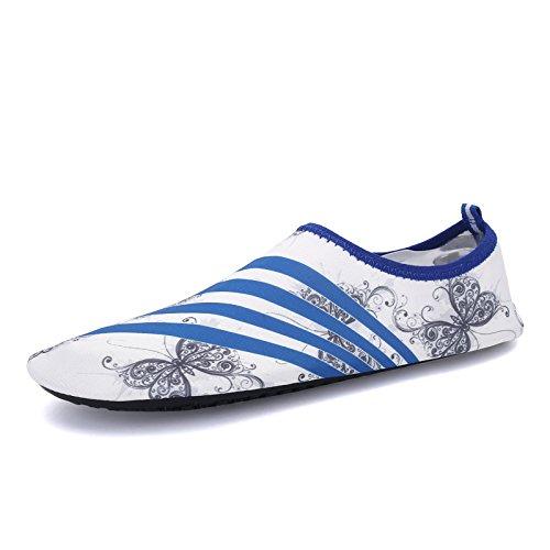 buceo al natación Butterfly Zapatos y libre Lucdespo White multi 168 funcional S playa suave zapatos deportes transpirable de aire elástica AW8nqSfH