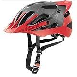 Uvex 2017 Quatro Pro Bicycle Helmet – S410785 (Dark Silver/Red Matte – 56-60 cm) For Sale