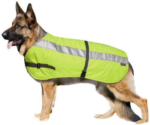 Petlife Flectalon Hi-Vis Dog Jacket Complete with Thermal Lining, 28-inch, Fluorescent Yellow by Flectalon