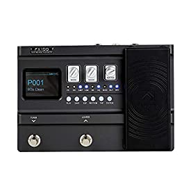 FLAMMA FX100 Guitar Multi-effects Pedal Processor with 151 Effects 80-Second Looper 200 Presets 55 Amp Models 40 Drum…