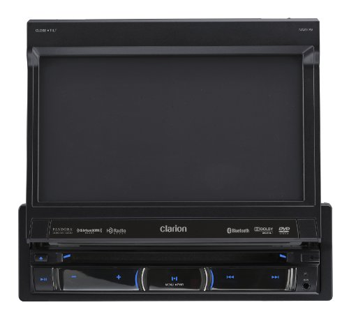 Clarion NZ503 DVD Multimedia Receiver with Built-In Navigation and Single DIN Motorized 7-Inch High Resolution Touch Panel Control