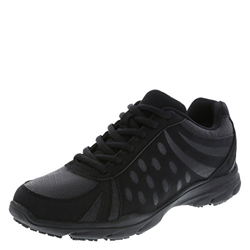 safeTstep Slip Resistant Women's Black Women's Camina Runner 8.5 Regular by safeTstep