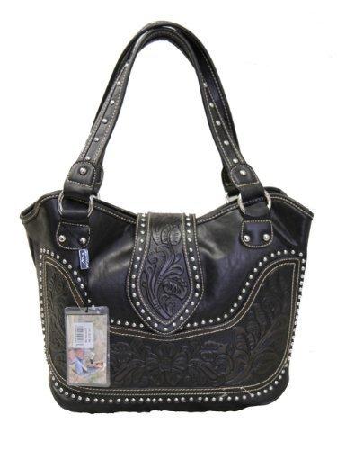 montana-west-ladies-concealed-gun-handbag-tooled-genuine-leather-black