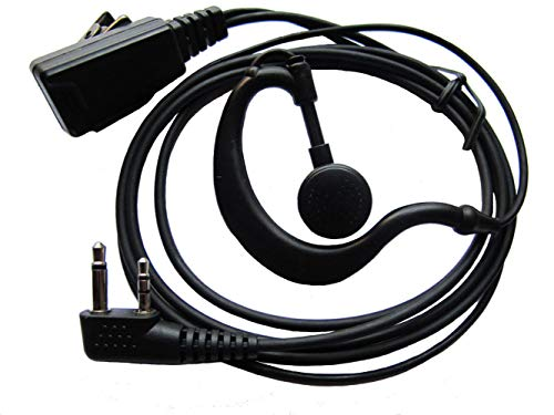 bestkong Earpiece for Icom Radio IC-V8 V80 V80E V82 V85 F4026 F3G F4G F11 F11S F14 F14S F21 F21S F24 F24S G Shape Earphone Earhook Headset with Mic 2 PIN