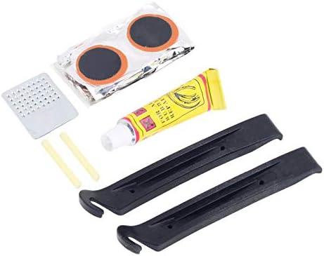 RONGYE Fahrradreparaturwerkzeuge Kits 8 st/ücke Reifenreparatur Patch Starker Kleber Tragbare Mehrzweck Fahrrad Reifenreparatur Kits Sets f/ür alle aufblasbaren Schl/äuche im Stra/ßennotfall