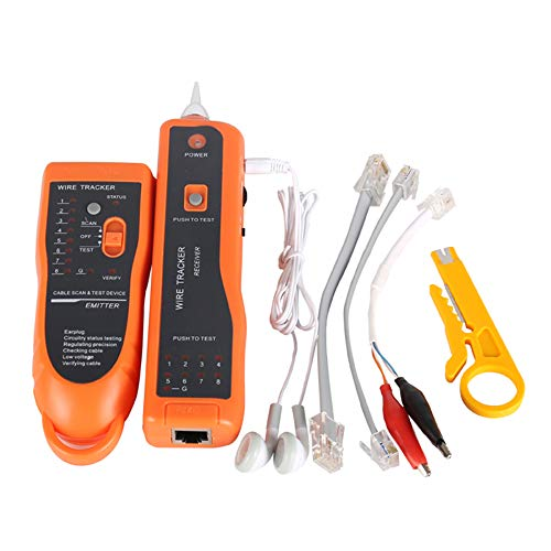 - Network Cable Tester RJ11 RJ45 Cat5 Cat6 Telephone Wire Tracker Tracer Toner Ethernet LAN Detector Line Finder