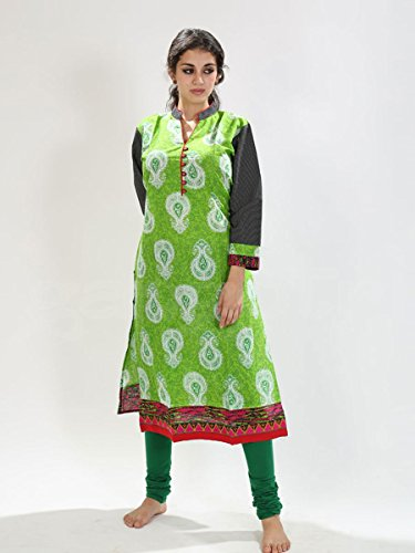 Top Cotton Printed Green