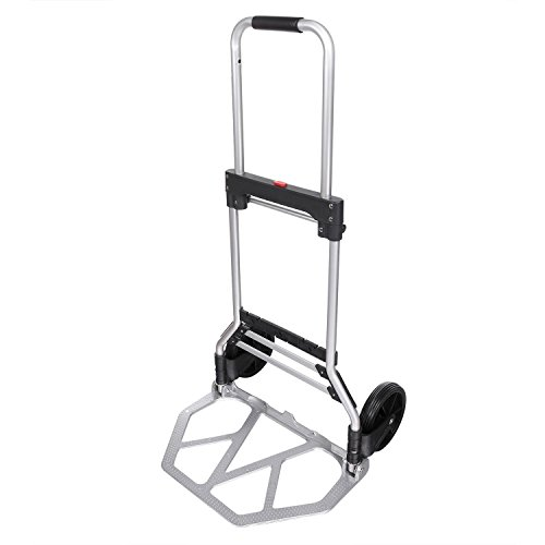 Lantusi Folding Hand Truck 220LBS Heavy Duty Dolly Luggage Cart for Industrial/Travel/Shopping, Silver by Lantusi