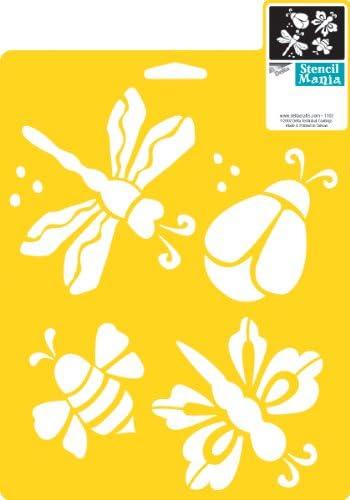 delta creative Stencil Mania Stencil, 7 by 10-Inch, 970160710 ...